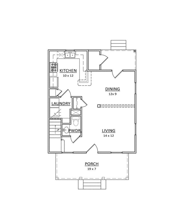 Craftsman Floor Plan - Main Floor Plan Plan #936-20