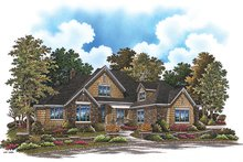 Cottage Exterior - Front Elevation Plan #929-927