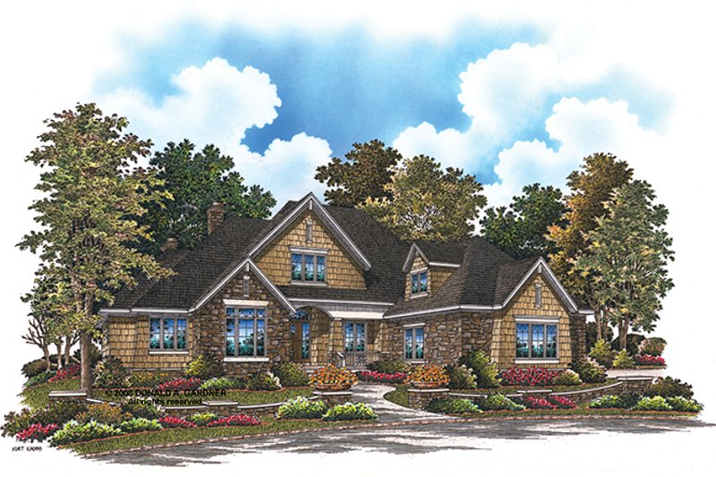 Cottage Style House Plan - 4 Beds 3 Baths 2430 Sq/Ft Plan #929-927