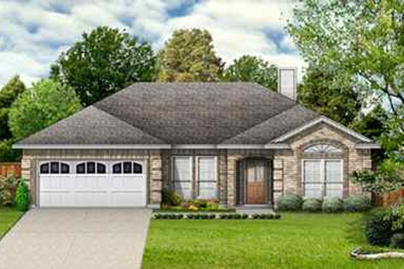 Dream House Plan - Traditional Exterior - Front Elevation Plan #84-117