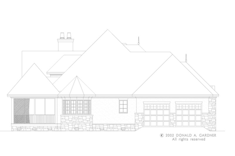 European Exterior - Other Elevation Plan #929-930 - Houseplans.com