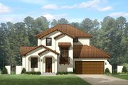 Mediterranean Style House Plan - 4 Beds 4 Baths 2693 Sq/Ft Plan #1058-147 Exterior - Front Elevation