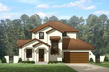 Architectural House Design - Mediterranean Exterior - Front Elevation Plan #1058-147