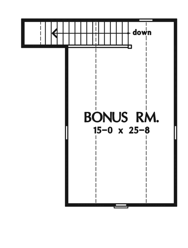 Craftsman Floor Plan - Other Floor Plan Plan #929-936