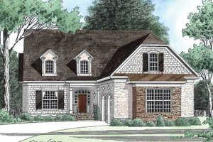 Country Exterior - Front Elevation Plan #1054-10