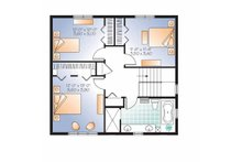 Traditional Floor Plan - Upper Floor Plan Plan #23-2507