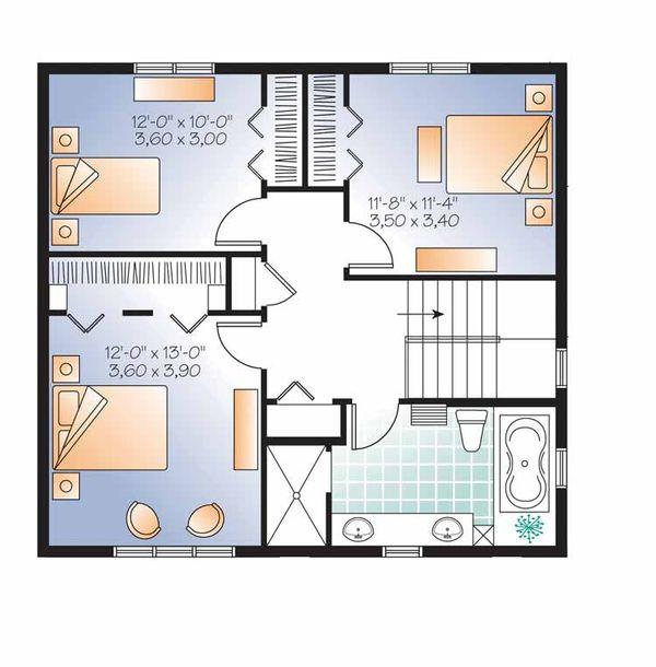 House Plan Design - Traditional Floor Plan - Upper Floor Plan #23-2507
