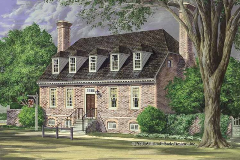 Colonial Exterior - Front Elevation Plan #137-350 - Houseplans.com