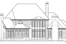 House Plan Design - Country Exterior - Rear Elevation Plan #54-377