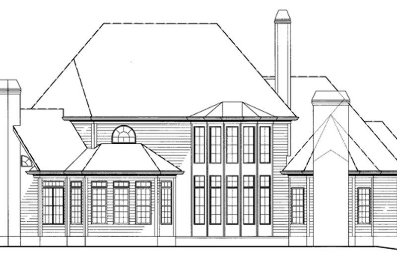 Country Exterior - Rear Elevation Plan #54-377 - Houseplans.com