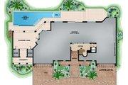 Beach Style House Plan - 4 Beds 4.5 Baths 12570 Sq/Ft Plan #27-546 Floor Plan - Lower Floor Plan