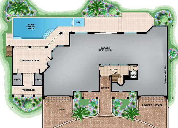 Beach Floor Plan - Lower Floor Plan Plan #27-546