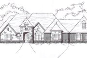 European Style House Plan - 5 Beds 4 Baths 4260 Sq/Ft Plan #141-253 Exterior - Front Elevation