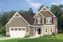 Colonial Exterior - Front Elevation Plan #1010-99