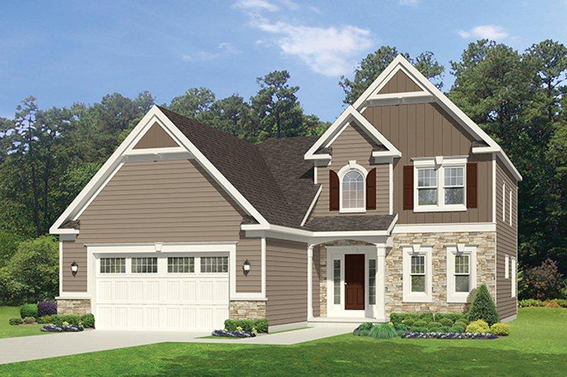 Colonial Exterior - Front Elevation Plan #1010-99 - Houseplans.com