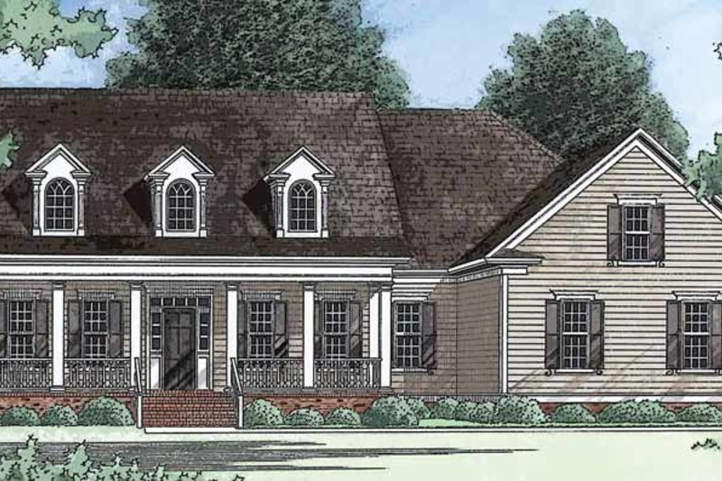 Country Exterior - Front Elevation Plan #1054-4