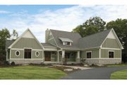 Bungalow Style House Plan - 2 Beds 2.5 Baths 2243 Sq/Ft Plan #928-169 Exterior - Front Elevation