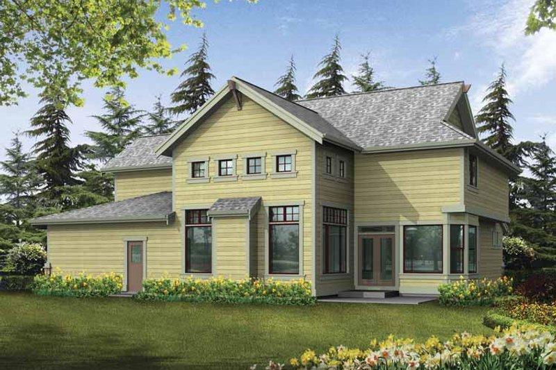 Craftsman Exterior - Rear Elevation Plan #132-244 - Houseplans.com