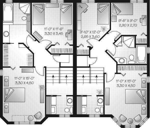 European Floor Plan - Upper Floor Plan Plan #23-682