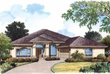 Architectural House Design - Mediterranean Exterior - Front Elevation Plan #417-770