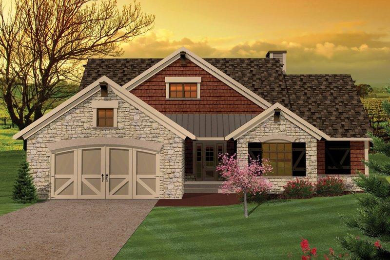 Ranch Exterior - Front Elevation Plan #70-1044 - Houseplans.com