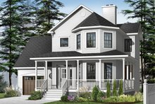 Home Plan - Farmhouse Exterior - Front Elevation Plan #23-863