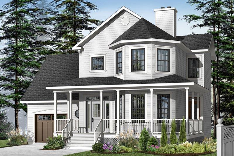 Farmhouse Exterior - Front Elevation Plan #23-863