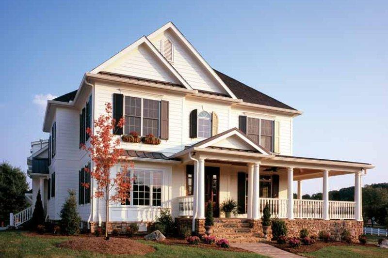 Colonial Exterior - Front Elevation Plan #429-257 - Houseplans.com