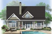 Country Style House Plan - 3 Beds 2.5 Baths 2037 Sq/Ft Plan #929-522 Exterior - Rear Elevation