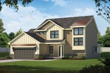 Architectural House Design - Traditional Exterior - Front Elevation Plan #20-2403
