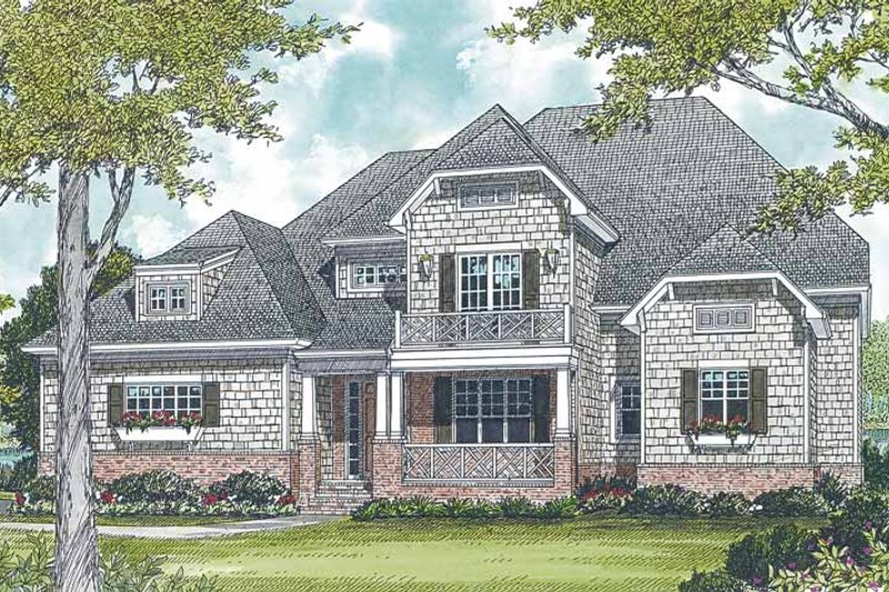 Architectural House Design - Craftsman Exterior - Front Elevation Plan #453-299