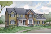 Country Style House Plan - 4 Beds 3.5 Baths 3436 Sq/Ft Plan #928-206 Exterior - Front Elevation