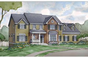 Country Exterior - Front Elevation Plan #928-206