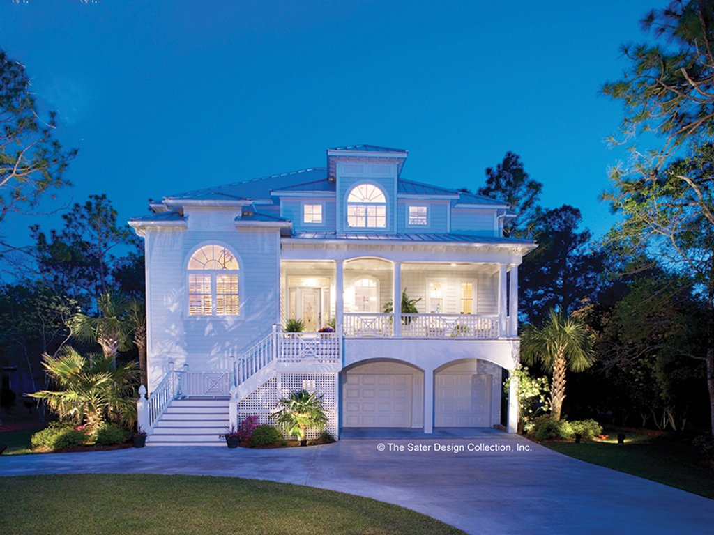 The Sater Design Collection southern style house plan - 3 beds 3 baths 2513 sq/ft plan #930-123