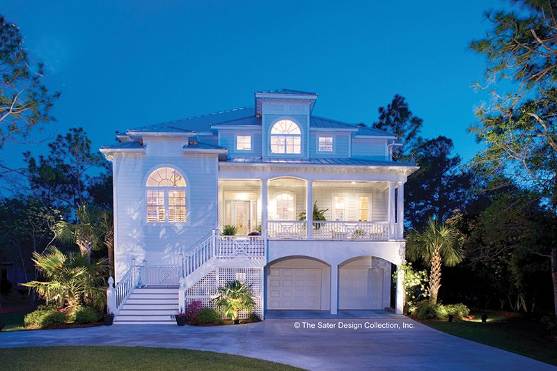 Architectural House Design - Southern Exterior - Front Elevation Plan #930-123