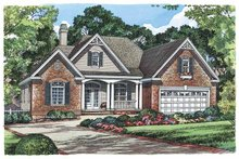 Country Exterior - Front Elevation Plan #929-542