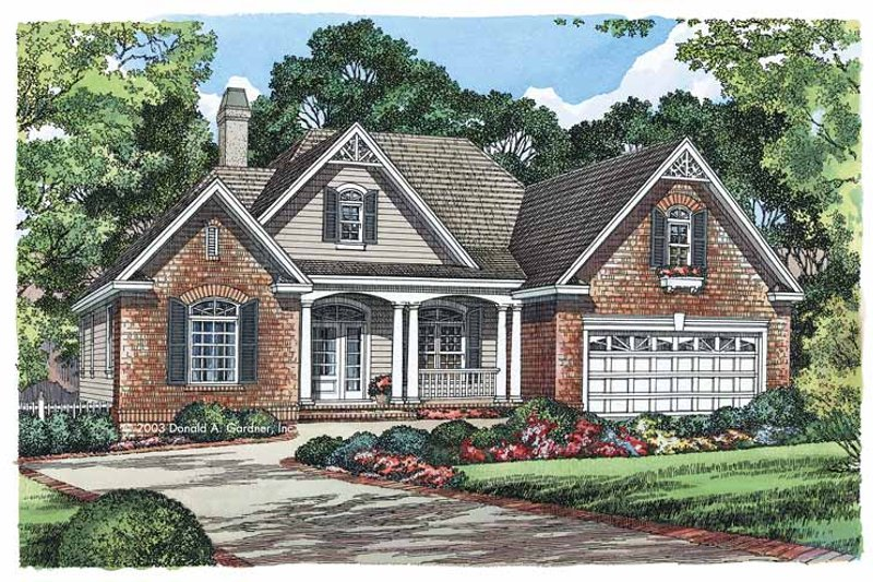 Dream House Plan - Country Exterior - Front Elevation Plan #929-542