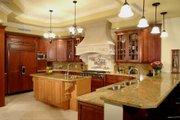 Mediterranean Style House Plan - 6 Beds 7.5 Baths 7100 Sq/Ft Plan #420-196 Interior - Kitchen