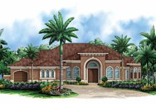 House Plan Design - Mediterranean Exterior - Front Elevation Plan #1017-146