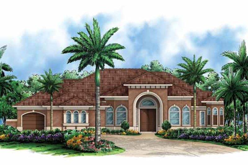 Dream House Plan - Mediterranean Exterior - Front Elevation Plan #1017-146
