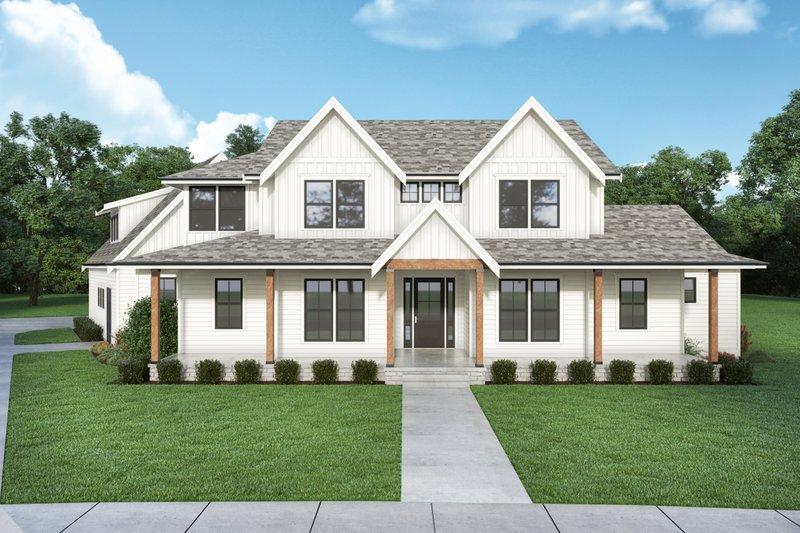 Farmhouse Style House Plan - 5 Beds 3.5 Baths 3864 Sq/Ft Plan #1070-135
