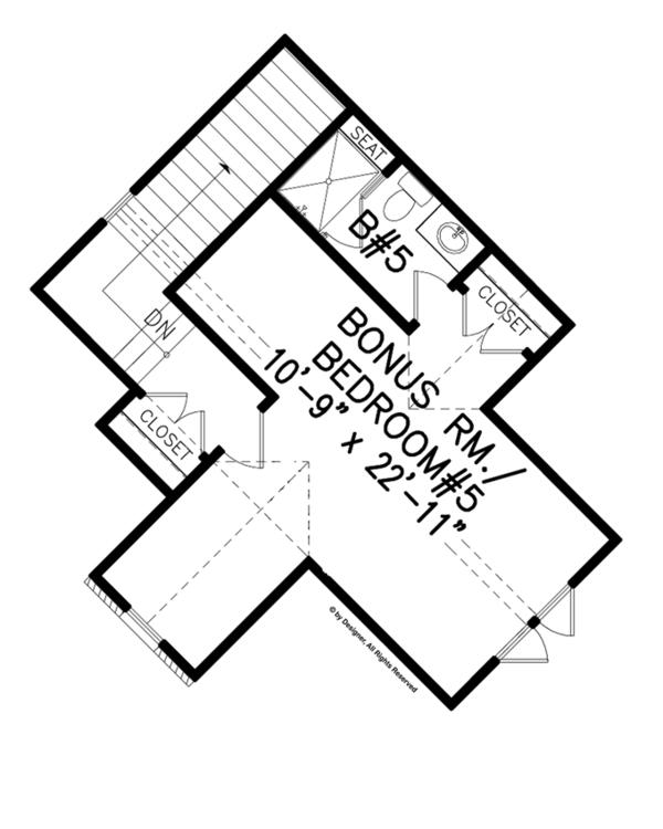 Craftsman Floor Plan - Other Floor Plan Plan #54-376