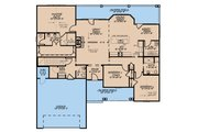 Traditional Style House Plan - 3 Beds 3.5 Baths 2088 Sq/Ft Plan #923-177 Floor Plan - Main Floor