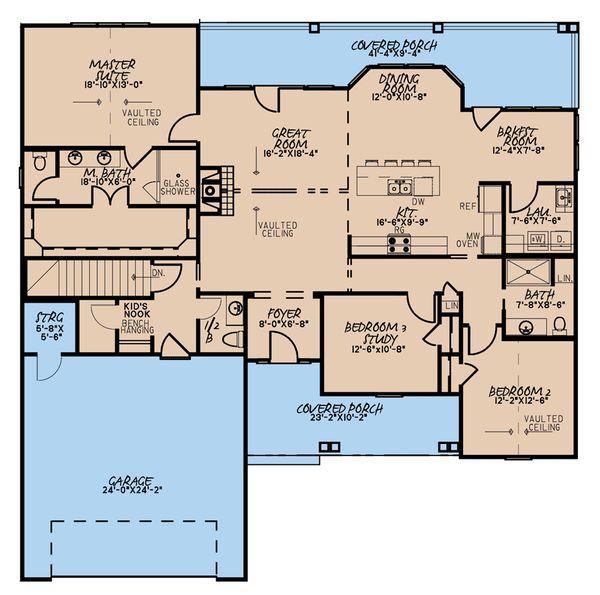 Dream House Plan - Traditional Floor Plan - Main Floor Plan #923-177
