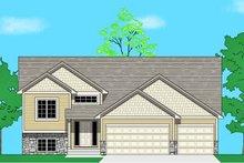 Prairie Exterior - Front Elevation Plan #981-19