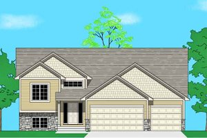 Prairie Exterior - Front Elevation Plan #981-19