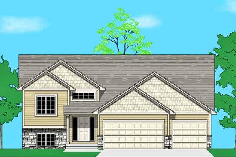 Prairie Exterior - Front Elevation Plan #981-19 - Houseplans.com