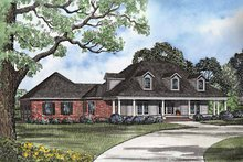 House Plan Design - Country Exterior - Front Elevation Plan #17-3201