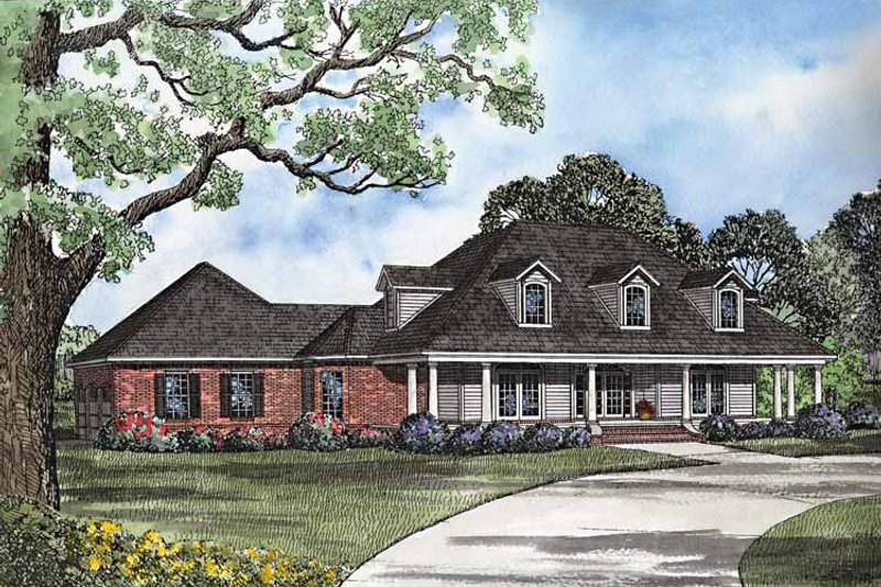 Country Exterior - Front Elevation Plan #17-3201 - Houseplans.com