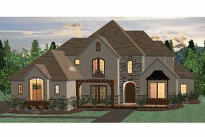 Country Exterior - Front Elevation Plan #937-33